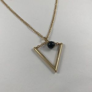 Vintage Gold Tone Triangle Necklace